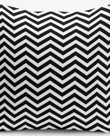 Černo-bílý povlak na polštář s příměsí bavlny Minimalist Cushion Covers Stardust, 45 x 45 cm