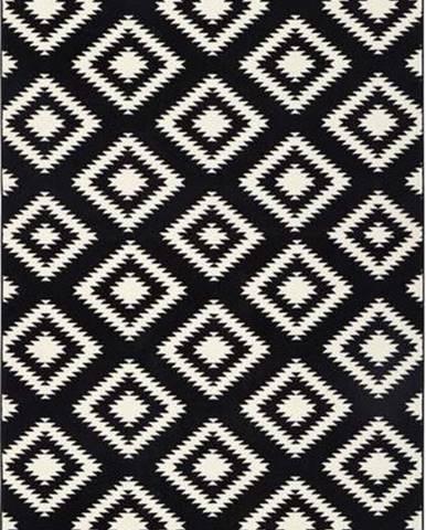 Černý běhoun Hanse Home Gloria Ethno, 80x300cm