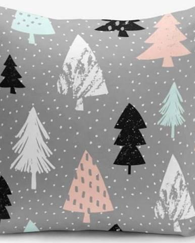 Povlak na polštář s příměsí bavlny Minimalist Cushion Covers Grey Background Agac, 45 x 45 cm