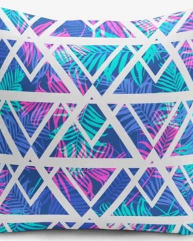 Povlak na polštář s příměsí bavlny Minimalist Cushion Covers Palm Zigzag, 45 x 45 cm