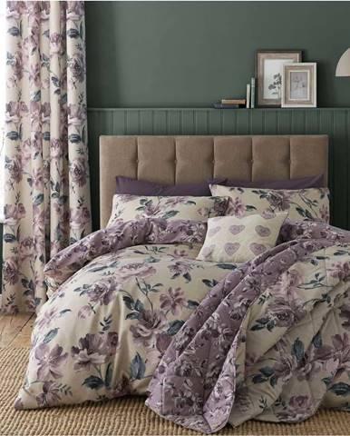 Prošívaný přehoz přes postel Catherine Lansfield Painted Floral, 220x230cm