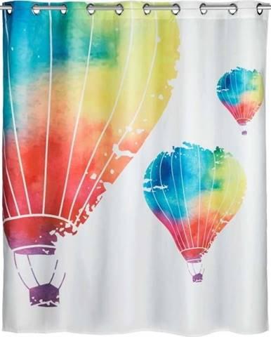 Sprchový závěs s protiplísňovou povrchovou úpravou Wenko Baloons, 180x200cm