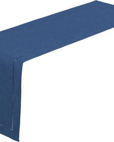 Tmavě modrý běhoun na stůl Unimasa, 150 x 41 cm
