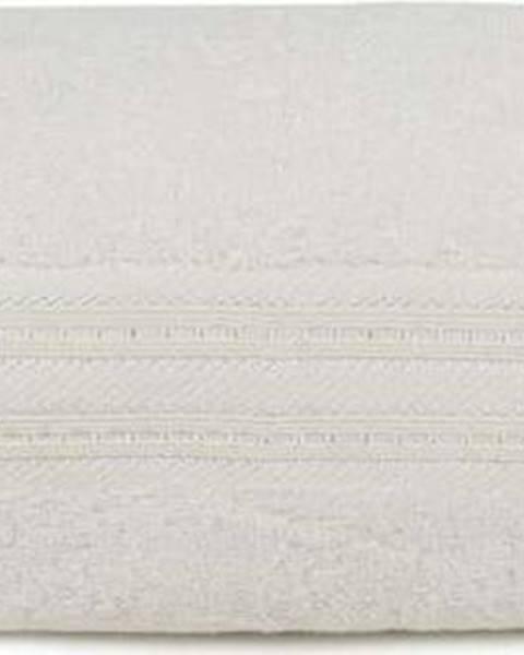 Hobby Krémová osuška z bavlny a bambusového vlákna Lavinya, 70x140cm