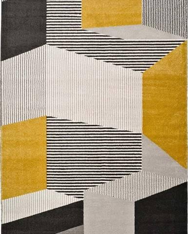 Šedo-béžový koberec Universal Elle Multi, 80 x 150 cm
