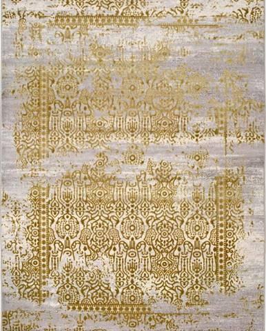Šedo-zlatý koberec Universal Arabela Gold, 140 x 200 cm