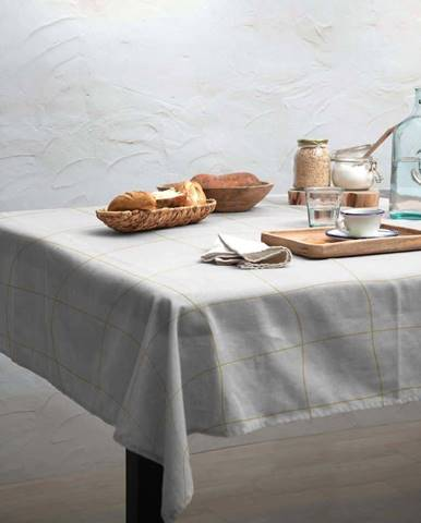 Ubrus Linen Couture Beige Lines, 140 x 200 cm