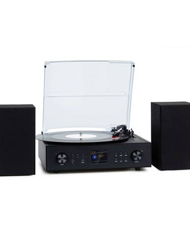 Auna Connect Vinyl, smart rádio, gramafon, 2 reproduktory, 20 W max., internet/DAB+