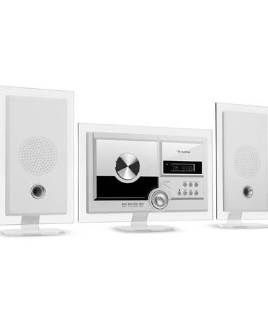 Auna Stereo Sonic, DAB+ stereo systém, DAB+, CD přehrávač, USB, BT, bílý