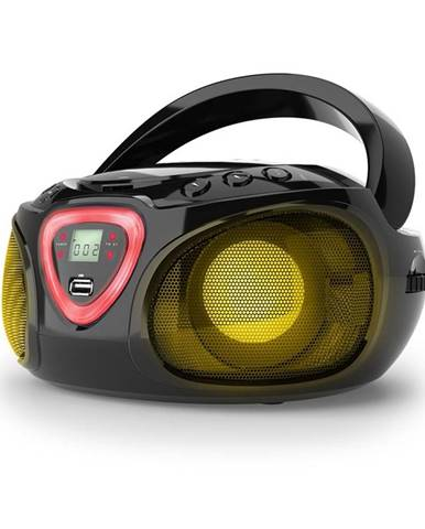 Auna Roadie, boombox, černý, CD, USB, MP3, FM/AM rádio, bluetooth 2.1, LED barevné efekty