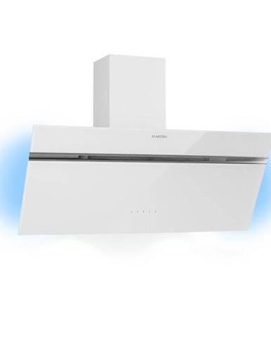Klarstein Alina, odsavač par, 90 cm, 600 m³/h, světlo, skleněný přední panel, bílý