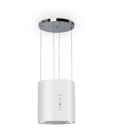 Klarstein Barett, ostrůvková digestoř, Ø 35 cm, recirkulace 560 m³/h, LED, filtr s aktivním uhlím, bílá