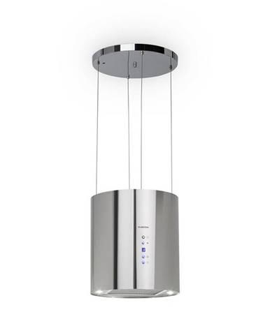 Klarstein Barett, ostrůvková digestoř, Ø 35 cm, recirkulace 560 m³/h, LED, filtr s aktivním uhlím, ušlechtilá ocel