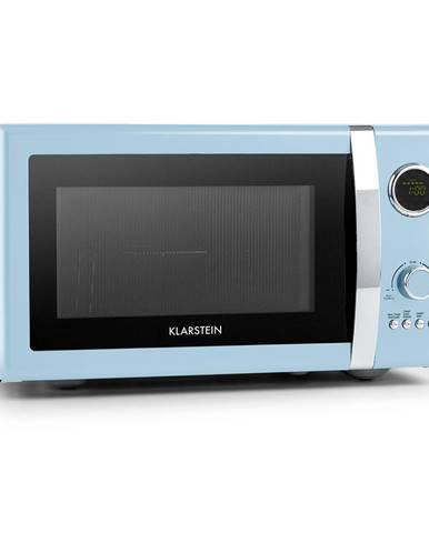 Klarstein Fine Dinesty, 2 v 1 mikrovlnná trouba: 23 l, 800 W/gril: 1000 W, modrá