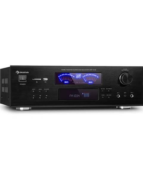 Auna Auna AMP 5100 BT, stereo zesilovač, 2x 120 W + 3x 50 W RMS, BT, černý