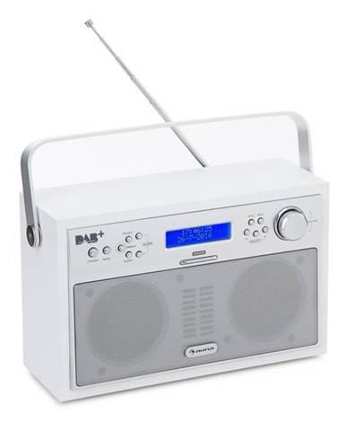 Auna Akkord, bílé, digitální rádio, přenosné, DAB + / PPL-FM, rádio, budík, LED