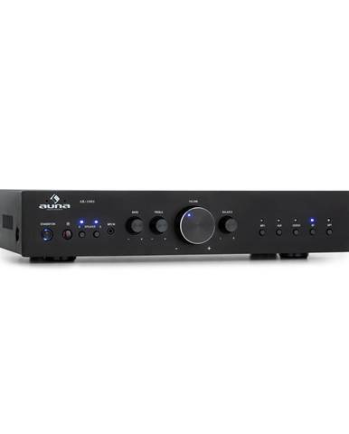 Auna AV2-CD608BT, HiFi stereo zesilovač, 4 x 100 W RMS, BT, digitální optický vstup, černý