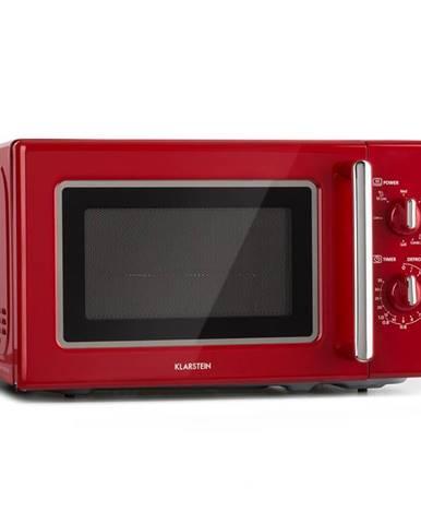 Klarstein Caroline, mikrovlnná trouba 20 l, 700/1000 W, Ø 25.5 cm, quickselect, retro, červená
