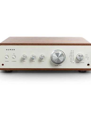 Numan Drive Digital, stereo zesilovač, 2x 170 W / 4x 85 W RMS, AUX / Phono / koaxial, ořech