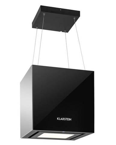 Klarstein KRONLEUCHTER, 600M³ / H, ČERNÝ, STROPNÍ ODSAVAČ PAR, ZÁVĚSNÝ, LED, SKLO, zrcadlící se strany
