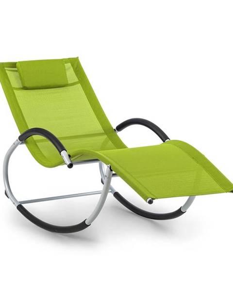 Blumfeldt Blumfeldt Westwood, houpací lehátko, ergonomické, hliníkový rám, zelené