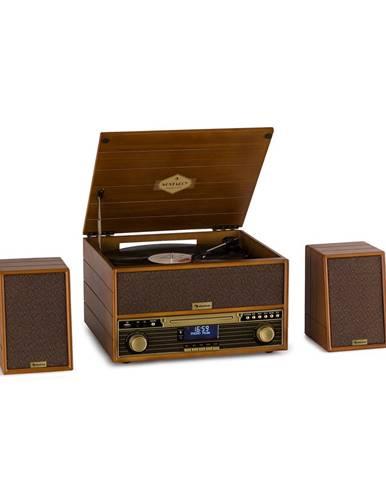 Auna Belle Epoque 1910, retro stereosystém, gramofon, CD přehrávač, reproduktory