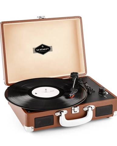 Auna Peggy Sue, retro gramofon, LP, USB, hnědý
