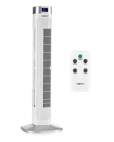 OneConcept Hightower 2 G, bílý, 50 W, sloupový ventilátor, stojanový ventilátor, časovač