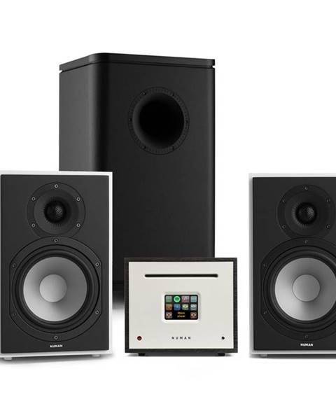 Numan Numan Unison Reference 802 Edition, stereo systém, zesilovač, reproduktory, bílo/černá