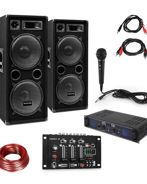 Skytec Skytec SPL700EQ zesilovač + 2 x reproduktor, mixážní pult, mikrofon