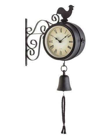 Blumfeldt Early Bird, nástěnné hodiny, zahradní hodiny, teploměr, 28 x 34 x 10 cm, zvon, retro