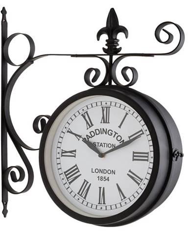 Blumfeldt Paddington, nástěnné hodiny, staniční hodiny, zahradní hodiny, 41 x 45 x 11 cm, vintage