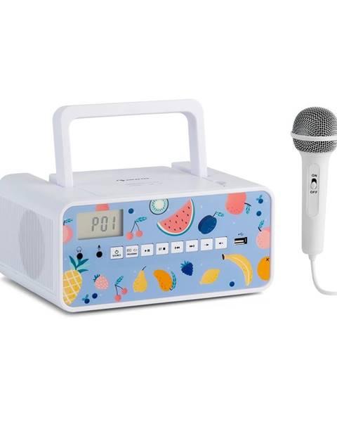 Auna Auna Kidsbox Fruits, CD boombox, CD přehrávač, BT, USB, LC displej, ovoce, bílý