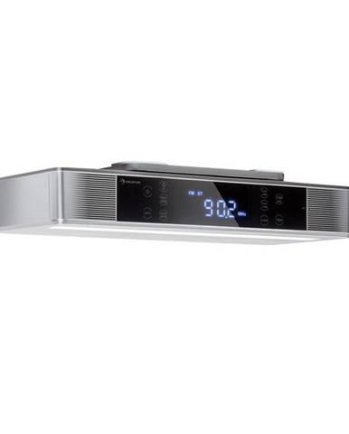 Auna KR-140, kuchyňské rádio, bluetooth, hands-free, FM, LED světla, stříbrné