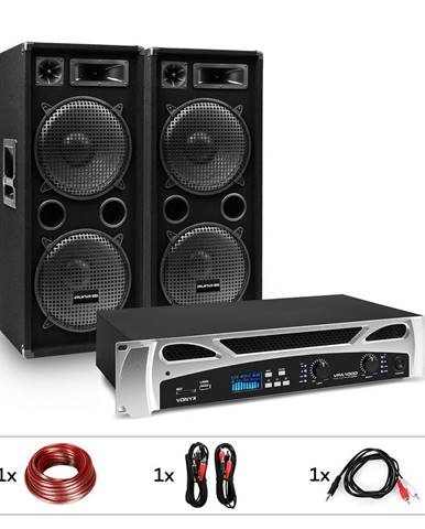 "Electronic-Star eStar Bangkok Rhythm, DJ systém, sada, PA zesilovač, 2 x 500 W, 2 x subwoofer, 2 x 12"""