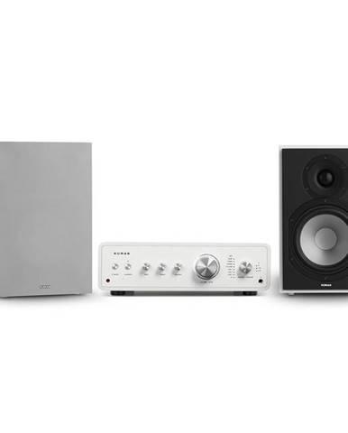 Numan Drive 802, stereo sada, stereo zesilovač, regálový reproduktor, bílá/šedá