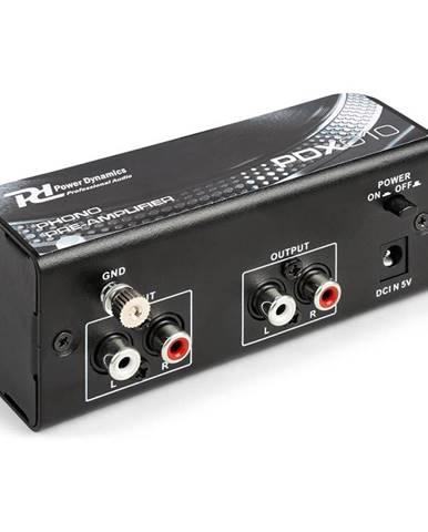 Power Dynamics PDX010, phono předzesilovač, phono-line, stereo předzesilovač