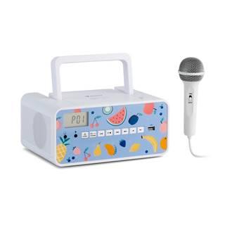 Auna Kidsbox Fruits, CD boombox, CD přehrávač, BT, USB, LC displej, ovoce, bílý