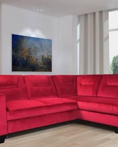 Rohová sedačka rozkládací massa pravý roh úp červená