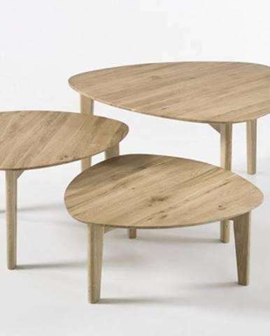 Konfereční stolek - dřevěný konferenční stolek freda - set 3 kusů
