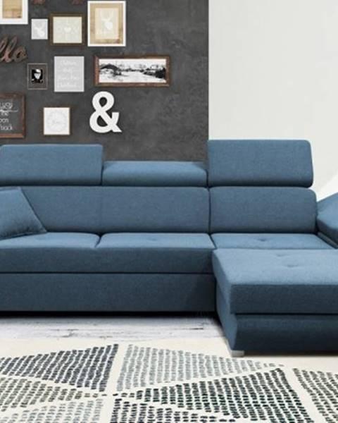Filex Rohová sedačka rozkládací gans pravý roh úp modrá
