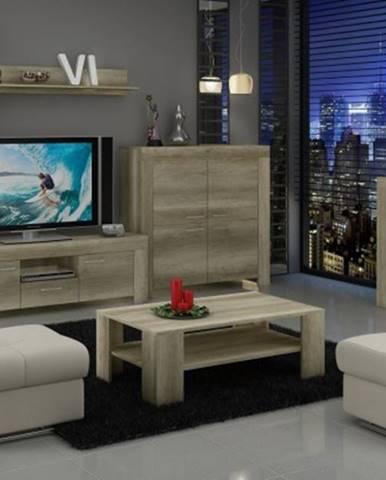 Sky - obývací stěna, 2x komoda, , stolek, světlo
