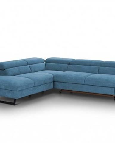 Rohová sedačka rozkládací naples levý roh modrá