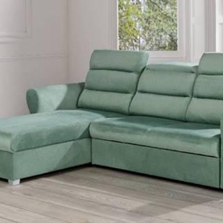 Rohová sedačka rozkládací argol levý roh úp zelená