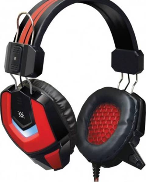 Defender Headset defender ridley, s mikrofonem, červeno-černá