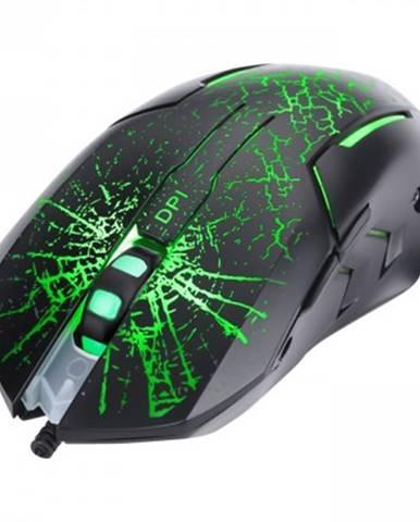 Drátové myši drátová myš marvo m207, herní, podsvícená, 6 tlačítek, černá