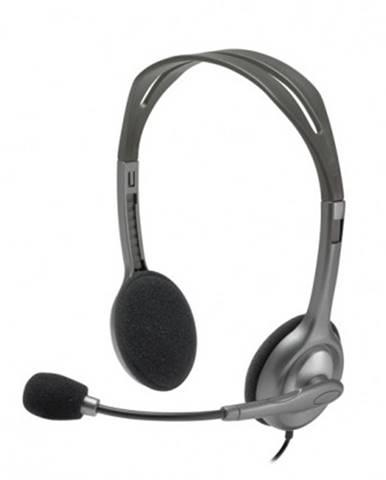 Sluchátka přes hlavu sluchátka logitech stereo h111, s mikrofonem, černá