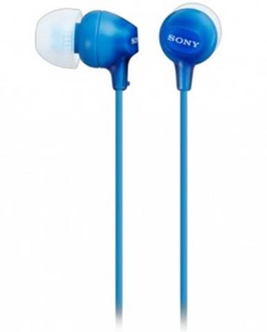 Špuntová sluchátka sony mdr-ex15lp, modrá