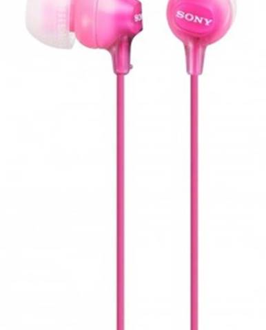 Špuntová sluchátka sony mdr-ex15lp, růžová