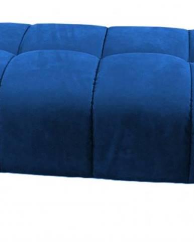 Taburet treviso obdélník modrá